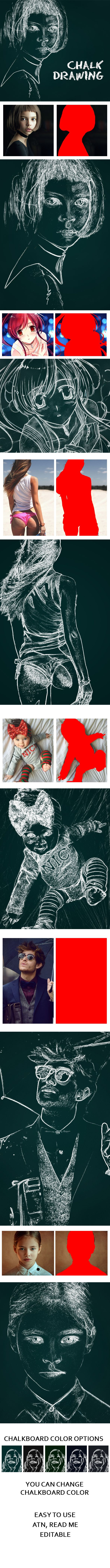 Chalk Drawing Effect - Photo Effects Actions