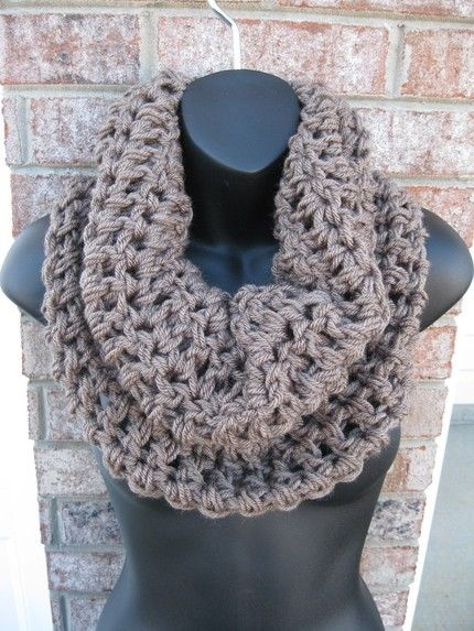 CHUNKY WALNUT Cozy Cowl Handmade scarf Neckwarmer wrap in any color CROCHETED Knit scarves unisex womens mens Fall Winter Scarf