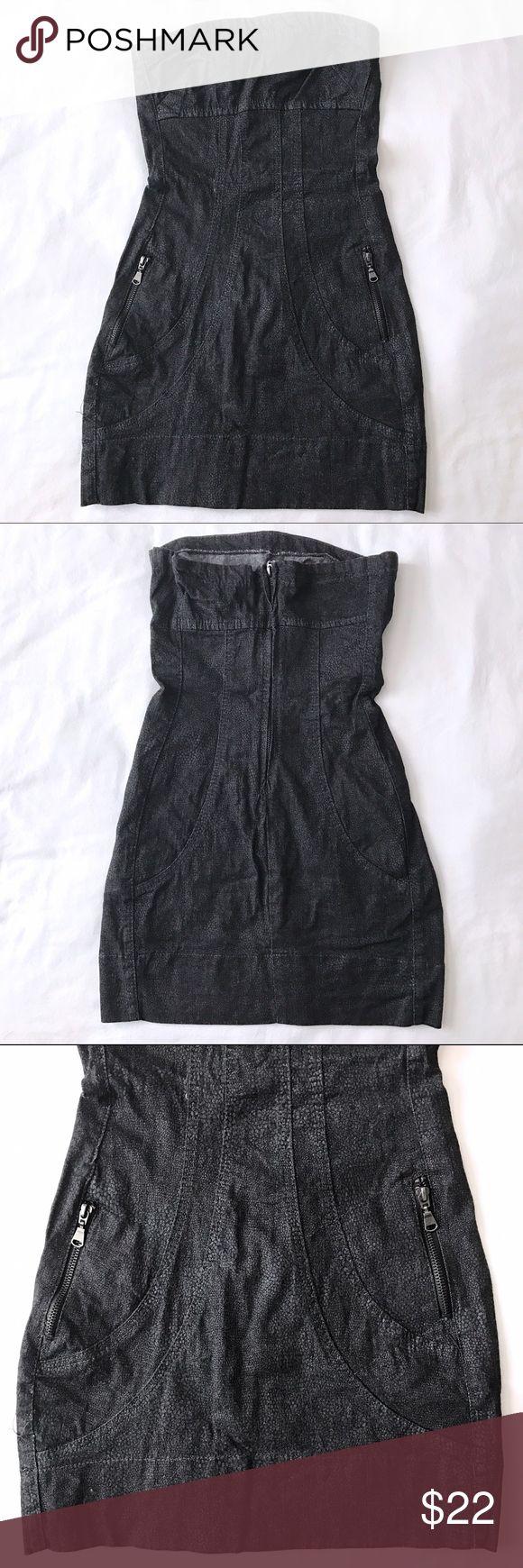 Selling this Zara trf ✨Black Denim✨Mini Tube Top Dress S on Poshmark! My username is: mih03. #shopmycloset #poshmark #fashion #shopping #style #forsale #Zara #Dresses & Skirts