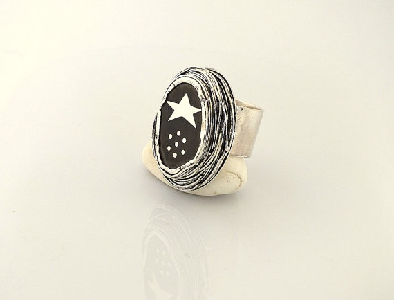 Starry Nights Ring   Statement Ring  by serpilguneysudesigns: Statement Rings, Nights Ring, Starry Nights