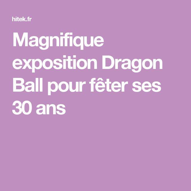 Magnifique exposition Dragon Ball pour fêter ses 30 ans