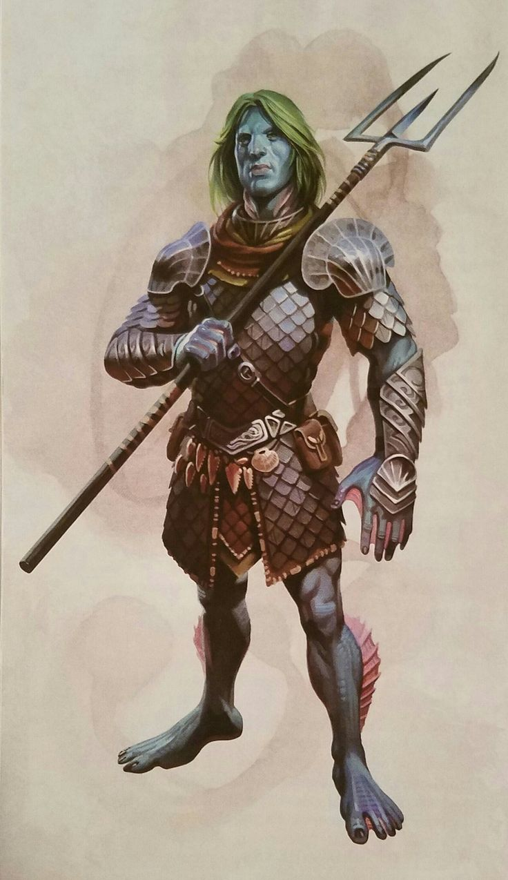 Name: Marcus, aka Fish Face. Race: Triton  Class:Fighter
