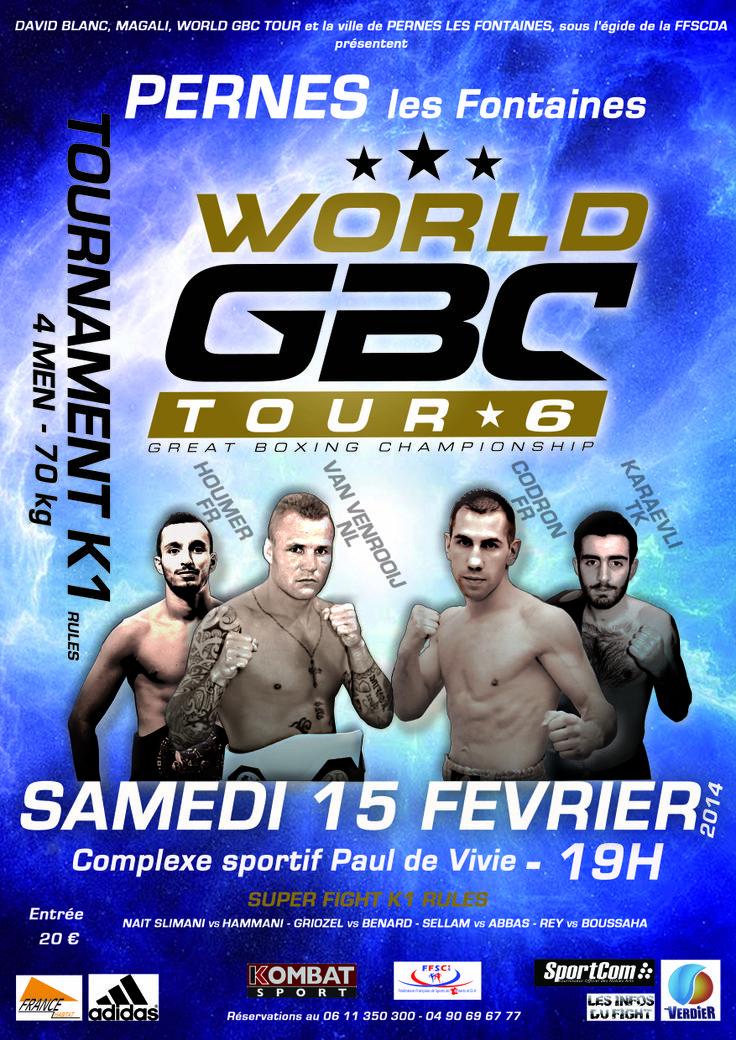 #WorldGBCTour 6 #K-1 #Pernes Mohamed #Houmer #Gomez Bruce #Codron #Karaevli