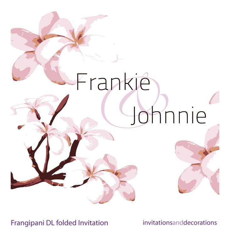 Frangipani Invitation
