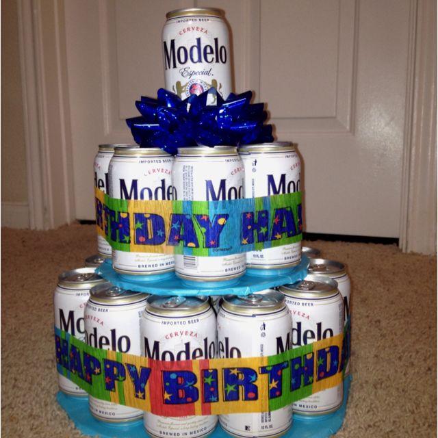Modelo Beer Cake Bottoms Up Pinterest Birthdays