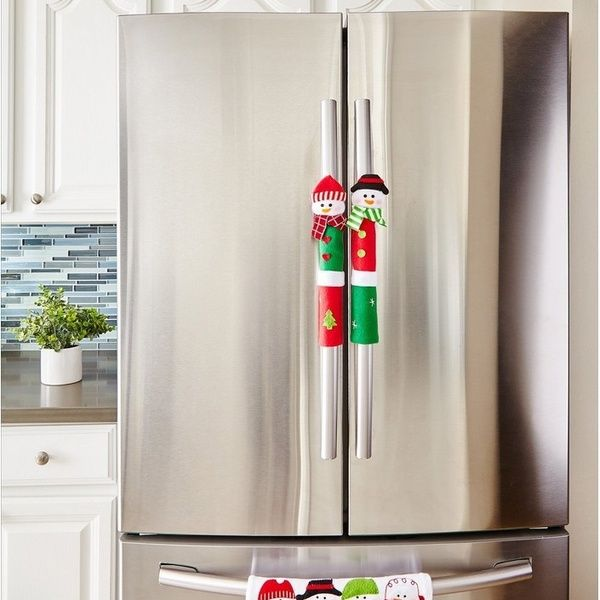 Christmas Decoration Snowman Refrigerator Oven Door Handle Covers