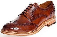 оксфорды, туфли, мужские, коричневые, кожаные