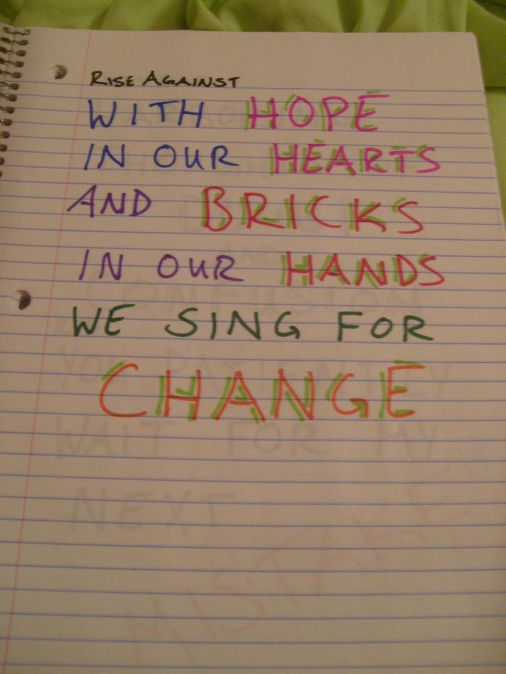 #lyrics Rise Against