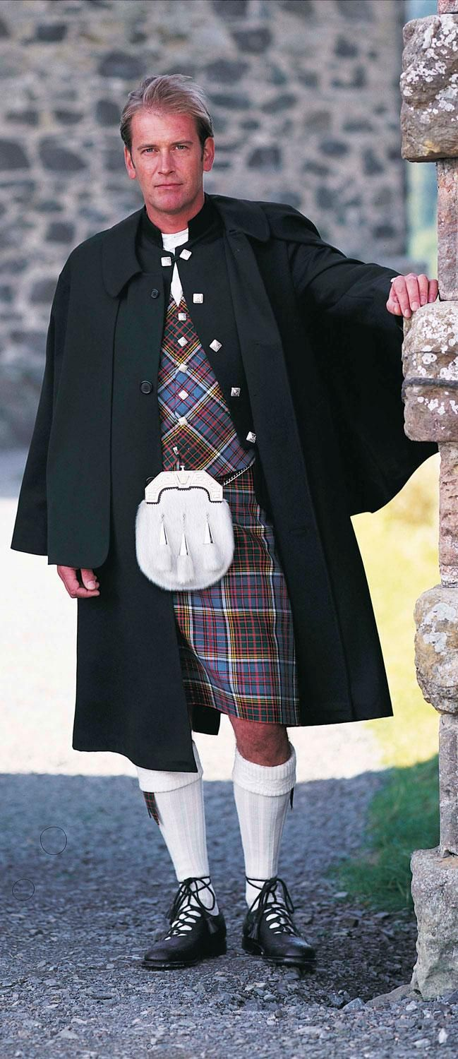 Inverness Cape in Black Barathea - Inverness Capes - Highland Dress - Mens-Inverness Cape - This is the traditional outer garment to wear over the Highland Dress outfit, often to protect the wearer from inclement weather. It is frequently worn by pipe bands and is usually made in dark material, sometimes barathea but can also be made in tweed and other materials.