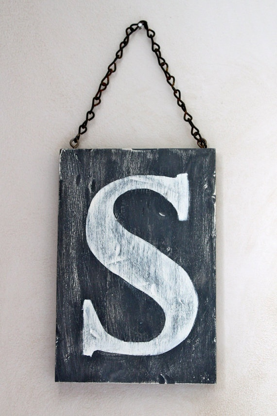 Wood Wall Art Letter Sign Vintage Style by InMind4U on ...