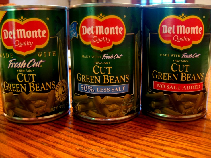 Canned green vegetables. ESPECIALLY green beans (which I love when fresh)