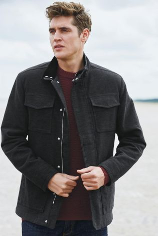 Buy Charcoal Herringbone Moleskin Jacket online today at Next: Rep. of Ireland