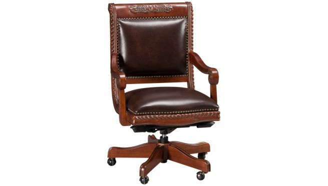 Aspen - Napa - Leather Office Chair - Office Chairs for Sale in MA, NH and RI at Jordans Furniture