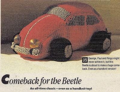 Vintage Toy KNITTING PATTERN VW Beetle Car Toy/Herbie Beetle Car, Vw Beetle...