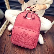 Hot Sale Small Fresh Summer Women Backpacks PU Leather Backpack Solid Color Shoulder Bags School bag(China (Mainland))