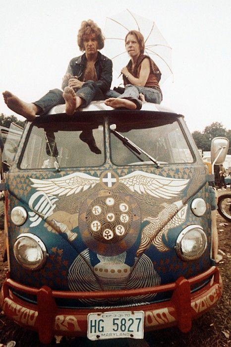 VW van: Car, Hippies, 60 S, 70 S, Vw Bus, Festival, 60S, Woodstock 1969