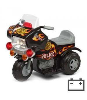 MOTO INFANTIL DE POLICÍA CON MOTOR Y BATERÍA 6V CON SONIDOS. IDEAL DE 1 A 3 AÑOS.