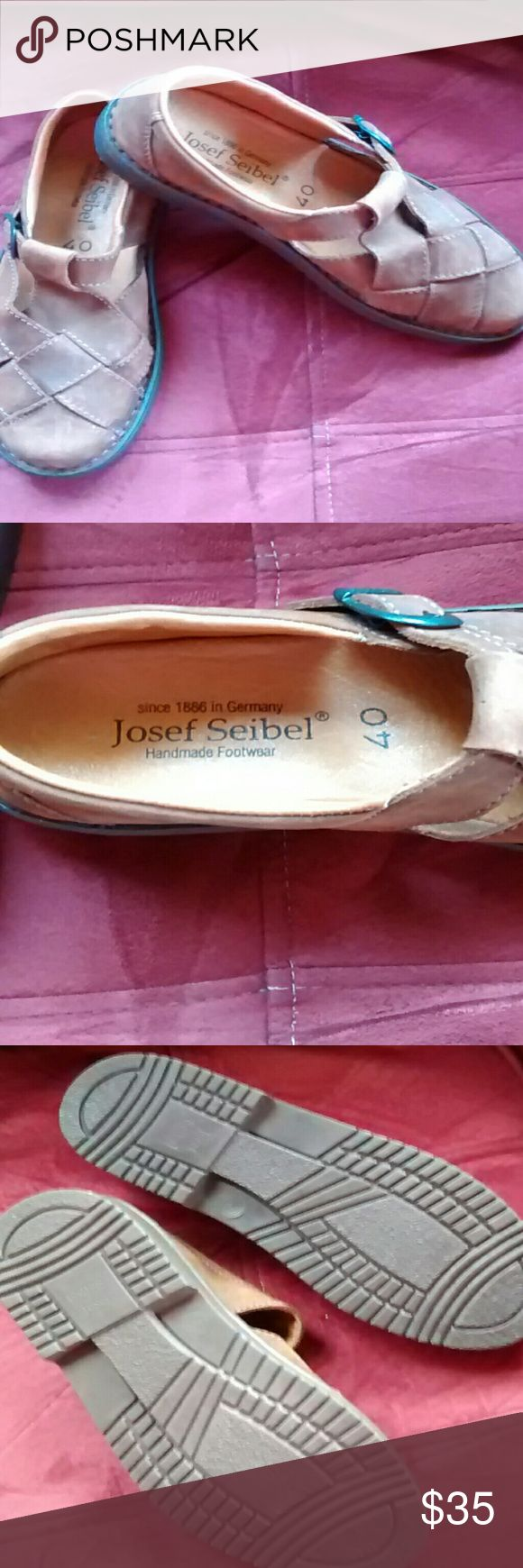 Josef Seibel shoes sz 40 Brown leather Josef Seibel, never been worn. Josef Seibel Shoes Espadrilles