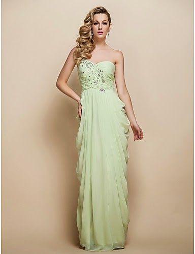Vestido de Noche Un Hombro color verde salvia | Vestidos de Fiesta Baratos