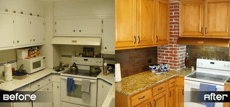 Kitchen cabinet refacing before after photos