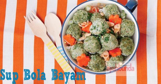 Sup Bola Bayam :: Spinach Ball Soup :: Klik link di atas untuk mengetahui resep sup bola ayam