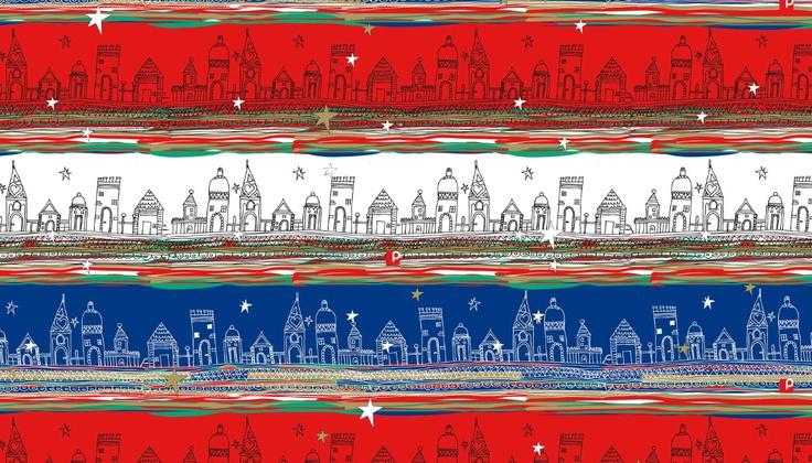 papeles de navidad la polar ilustración margarita Garcés