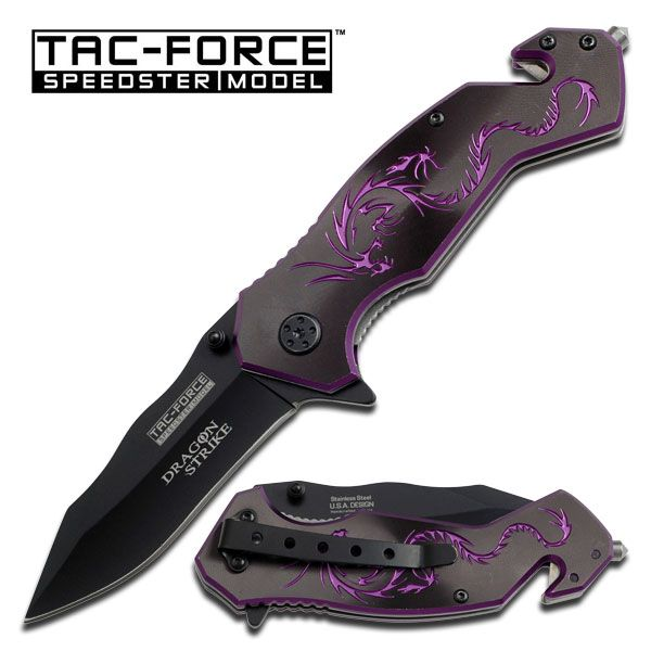 Just got this today @ the flea market: Tac Force Purple Dragon Assisted Opening Rescue Knife