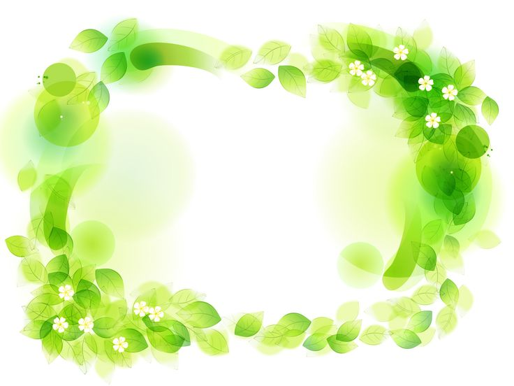 Green Floral Frame Powerpoint Template