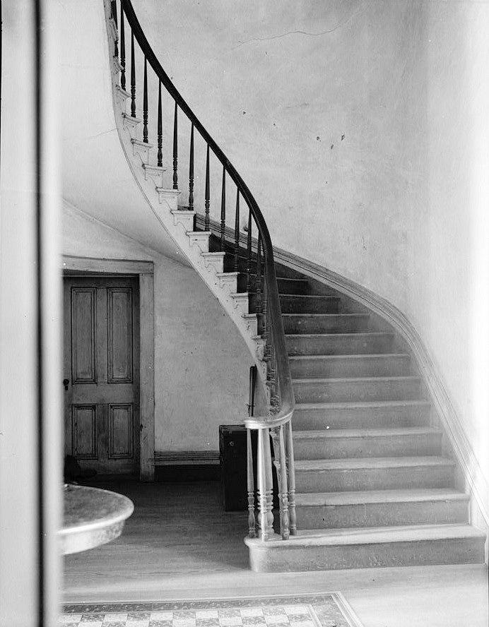 Ashland-Belle Helene Plantation Geismar Louisiana 1936 STAIRS AND STAIR HALL