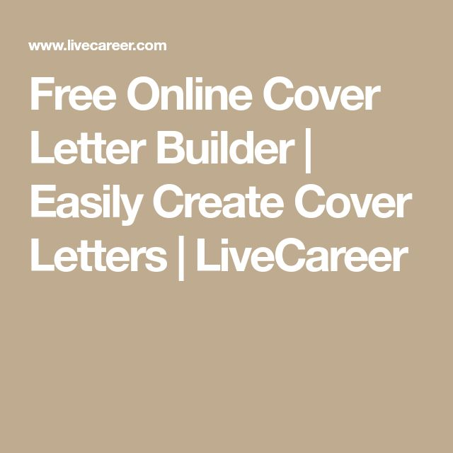 Best 25+ Cover letter builder ideas on Pinterest Cover letter - how to create cover letter