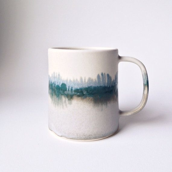 Limited Edition Winter Landscape Mug by paperandclaystudio, Etsy, $48.00. Perfection.