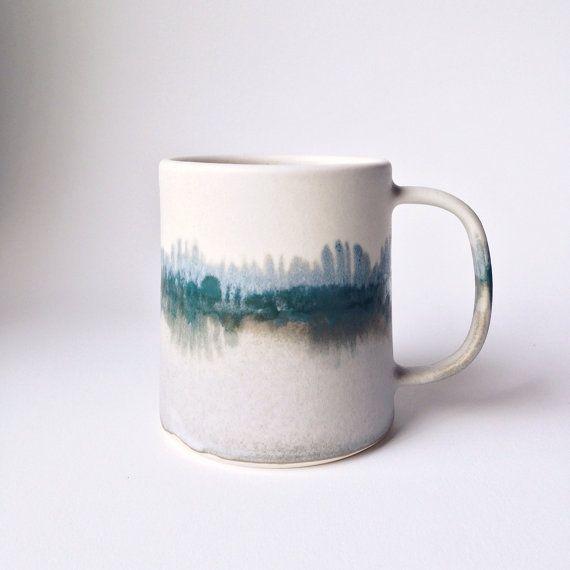 Edition limitée hiver paysage Mug fabriqué par paperandclaystudio
