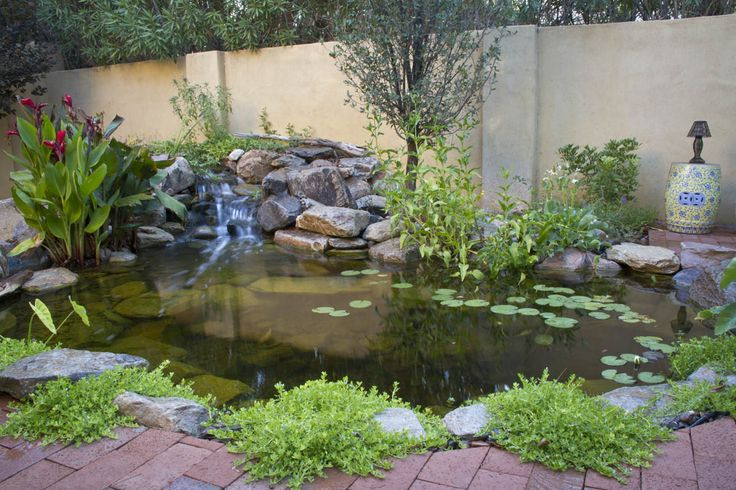 592 best ponds and water features images on pinterest for Pond edging ideas
