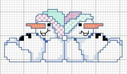 Schema punto croce Omino 10