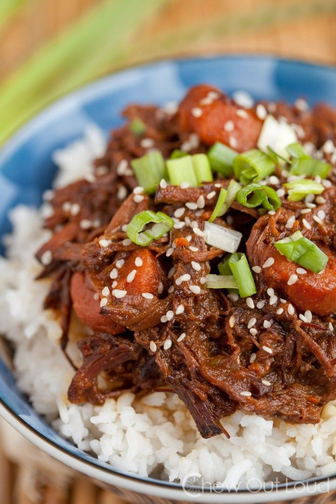 Slow Cooker Korean BBQ Beef by chewoutloud #Beef #BBQ #Korean #Slow_Cooker