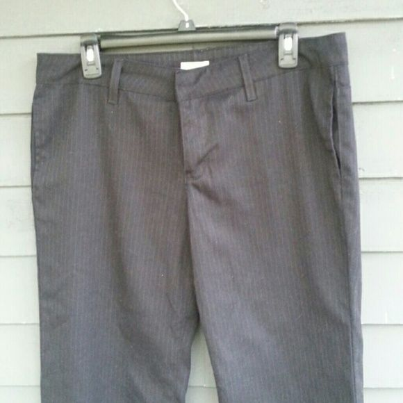 Urban Outfitters wide leg pinstripe trousers I got these a long time ago at UO and I only wore them a few times because they were too long. Still in great condition besides a little scuffing on the bottom hem. Brand is Lux Urban Outfitters Pants Trousers