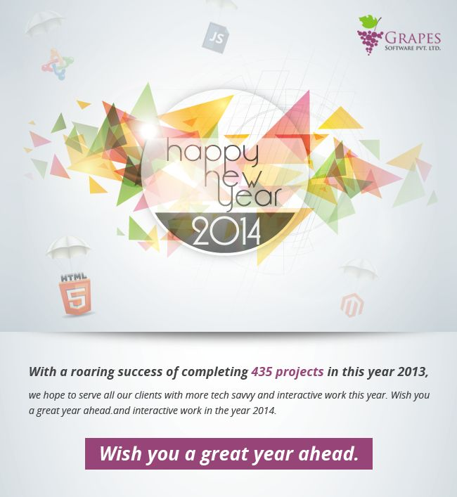 #New #Year #greetings #emailer #design. #Mailer #Email designed by #Grapes #Digital. Visit http://grapesdigital.com/ for more #designs.