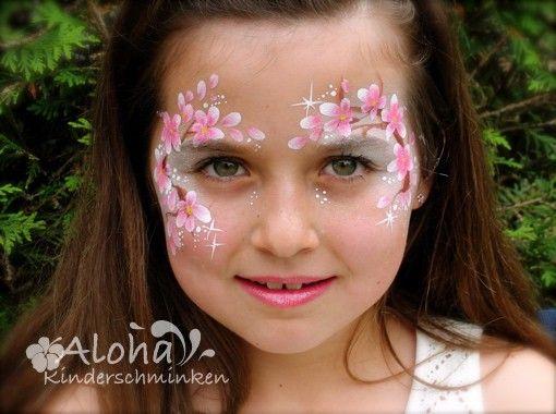 Cherry blossom face painting.Kinderschminken Motive für Ihre Kinderparty!