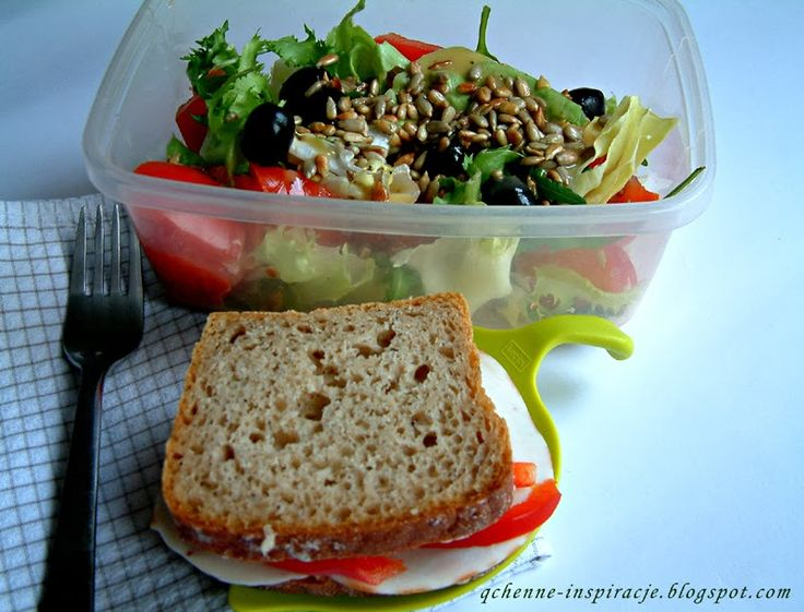 Qchenne-Inspiracje! FIT blog o zdrowym stylu życia i zdrowym odżywianiu. Kaloryczność potraw. : Przepisy FIT: Pełnowartościowy lunchbox do zabrani...