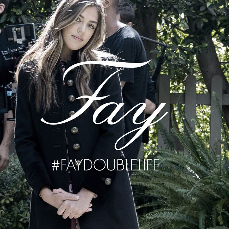 Sistine Stallone stars in the new Fay Double Life campaign.