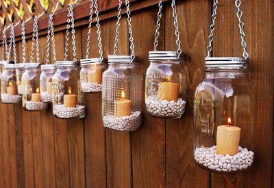 Adornos para iluminar el jardín ~ Portal de Manualidades: