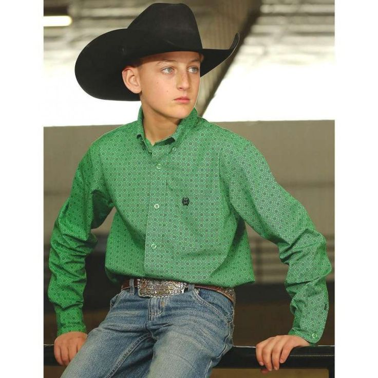 Cinch Boys Kingston Shirt  Dress your young man just like dad in this stylish Cinch shirt.  $59.95