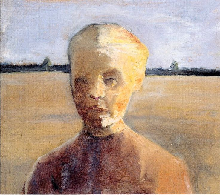 ♀ Painted Art Portraits ♀ Paula Modersohn-Becker | Portrait of a girl in a landscape, 1897