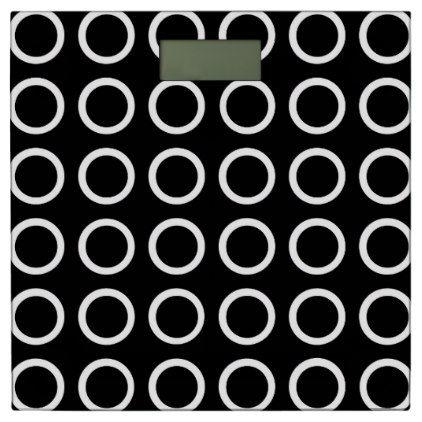 #White Circles Black Bathroom Scale - #Bathroom #Accessories #home #living