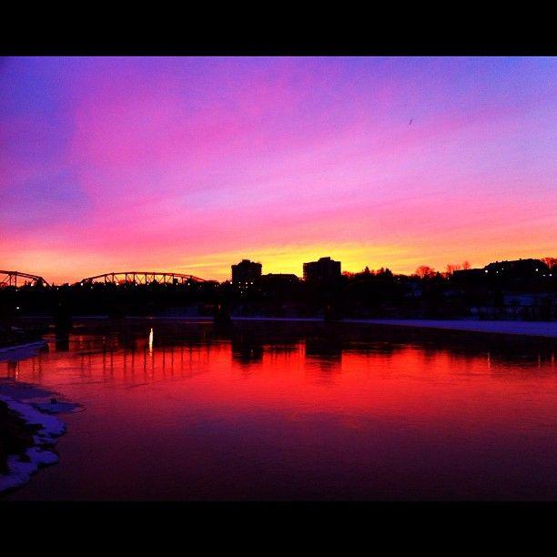 Amazing Sunrise - Saskatoon, Saskatchewan.