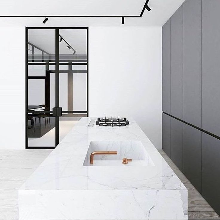 "878 curtidas, 14 comentários - Immy + Indi (@immyandindi) no Instagram: ""How sleek is this kitchen, would be a minimalist's dream ✔️✔️ designed by @emildervish """