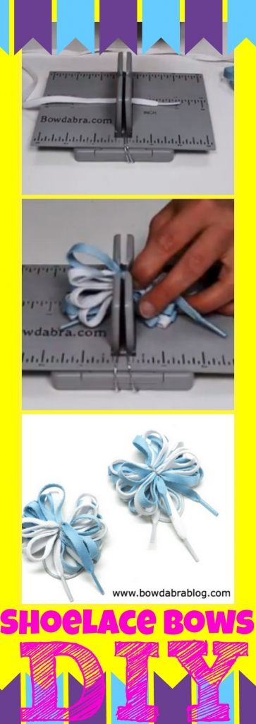 DIY Shoelace Bows - so easy and great for cheer bows