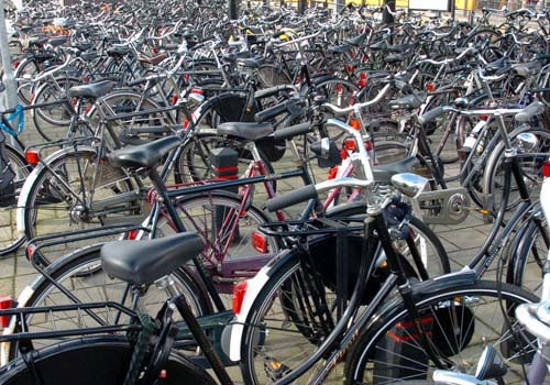 Typical dutch, bicycles everywhere