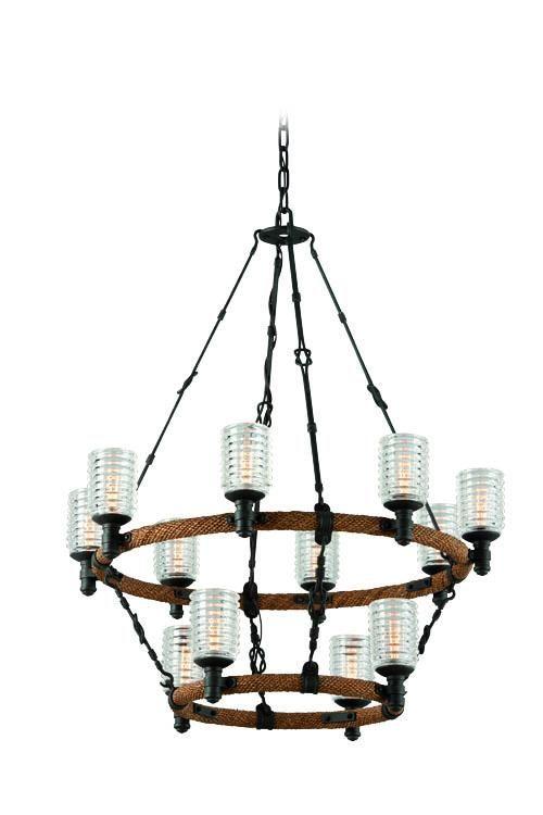 Twelve light black up pendant lw0c dulles electric supply corp foyer chandelierindustrial