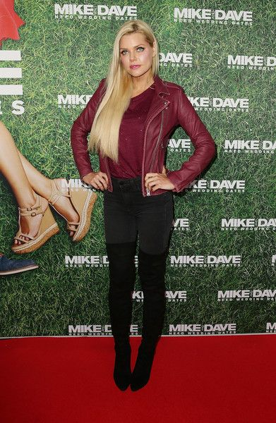 Sophie Monk Over the Knee Boots - Sophie Monk finished off her look with a pair of over-the-knee boots.